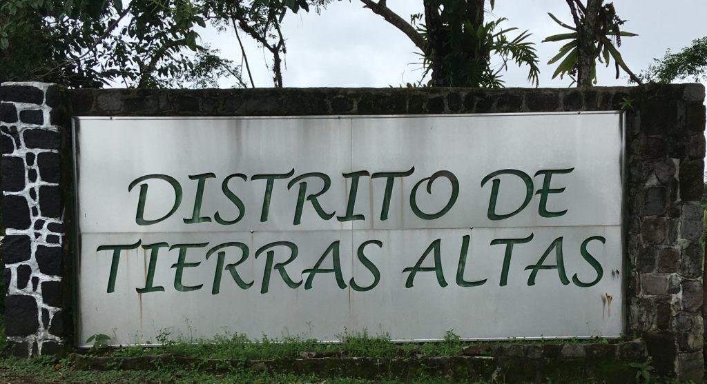 señalización entrada al distrito